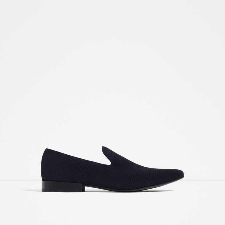 MICRO-PERFORATED LEATHER LOAFERS from Zara
