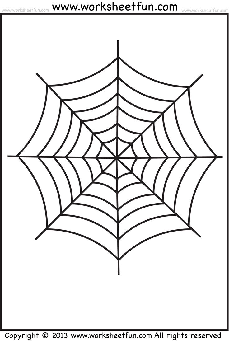 Spider Web Tracing and Coloring – 2 Halloween Worksheets / FREE ...