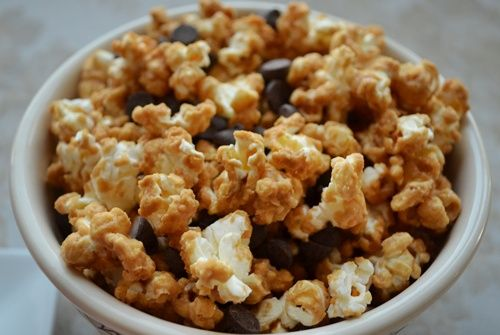 caramel corn with microwave popcorn