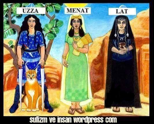 před- Islámské Bohyně, reprezentace Trinity Velké Mamy