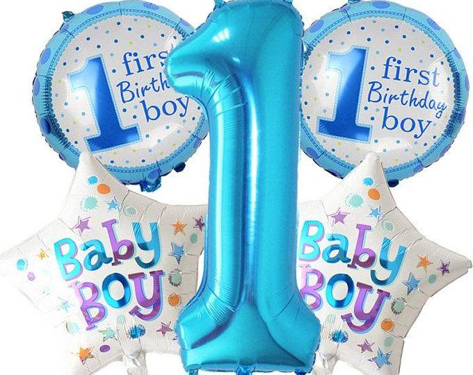 1st birthday boy Balloon, 5pcs helium balloon boy , boy Balloon, 1st birthday balloon boy, 1st birthday,