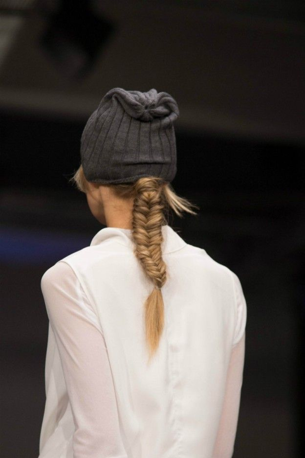 Cute fishtail braids for the NYNE show at NZ Fashion Week.