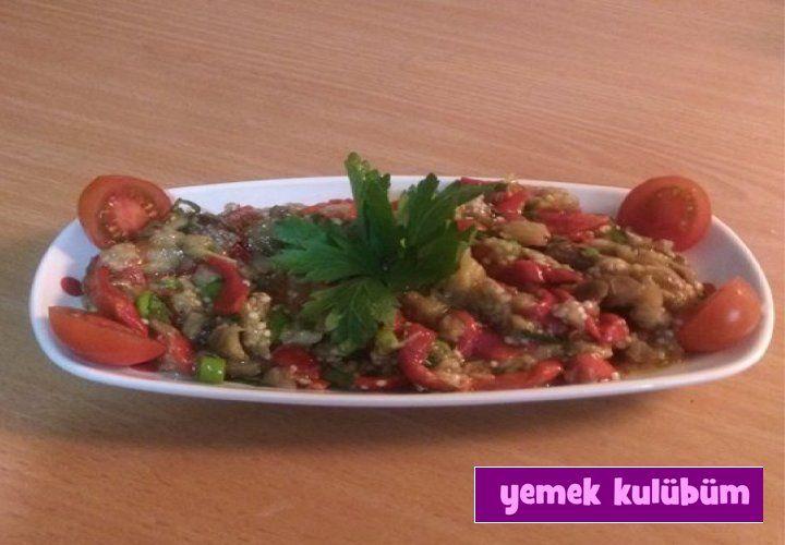 TARİF : Közlenmiş Patlıcan Salatası