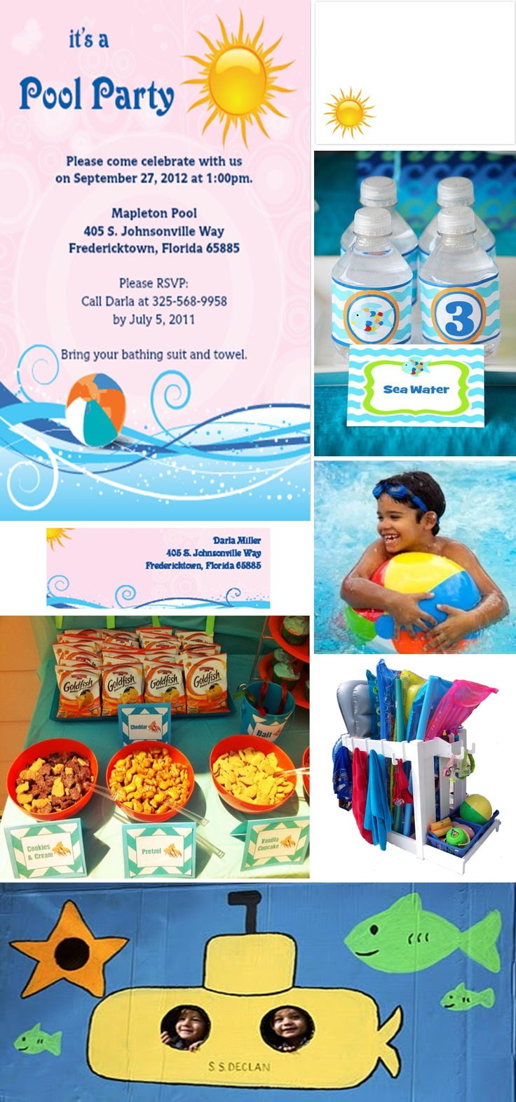 17 best images about indoor pool party on pinterest - Swimming pool party ideas for kids ...