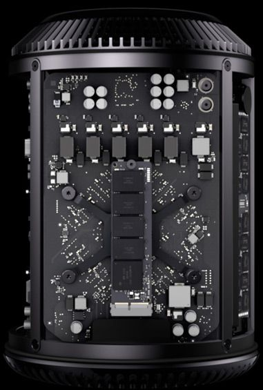 The new Mac Pro—you can't buy it yet, looks like part of the Death Star!