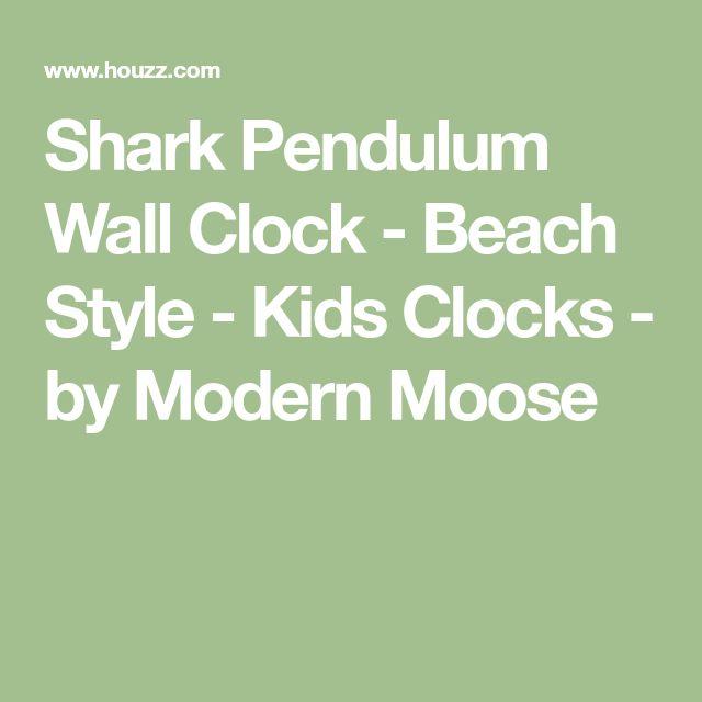 Shark Pendulum Wall Clock - Beach Style - Kids Clocks - by Modern Moose
