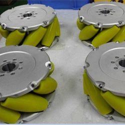 A set of 8inch (203mm) heavyduty industrial mecanum wheel (Load cacipity 800KG) NM203A. Nexus Industry Omni wheel & Mecanum wheel is heavy load Omni wheel..