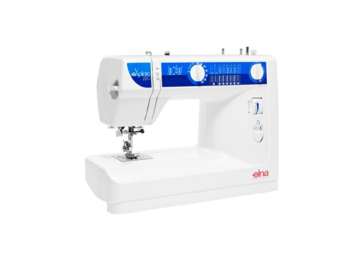 The eXplore 220 mechanical sewing machine is the key to genuine enjoyment. With it's full complement of #stitches and features, this easy to operate, affordable, #high-quality sewing machine is perfect for anyone learning to #sew as well as for experienced sewers who want to add a basic, quality sewing machine to their sewing room. #Elna #sewingmachine #eXplore220