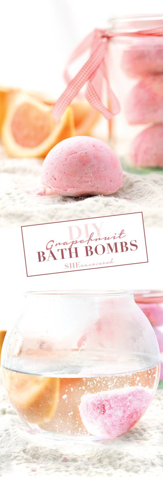 Best DIY Ideas from Pinterest | Homemade Bath Bomb Recipes and Tutorials | Make Grapefruit Bath Bombs at Home Like Lush