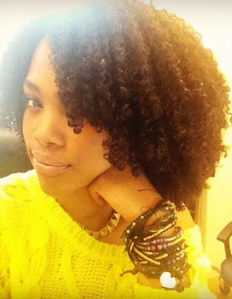 Natural hair + bright yellow = happiness! #black women #african american #hair