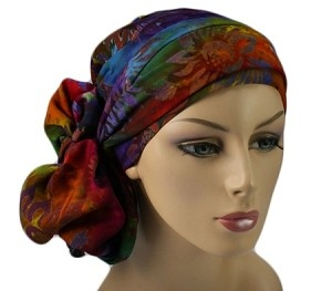 Batik Turban, Chemo hats, turbans for cancer, head scarf, hats for cancer patients, alopecia, chemo hair loss.