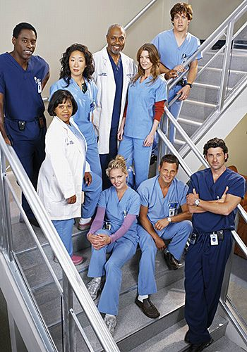 Grey's Anatomy Original Cast..still can't stand burke though