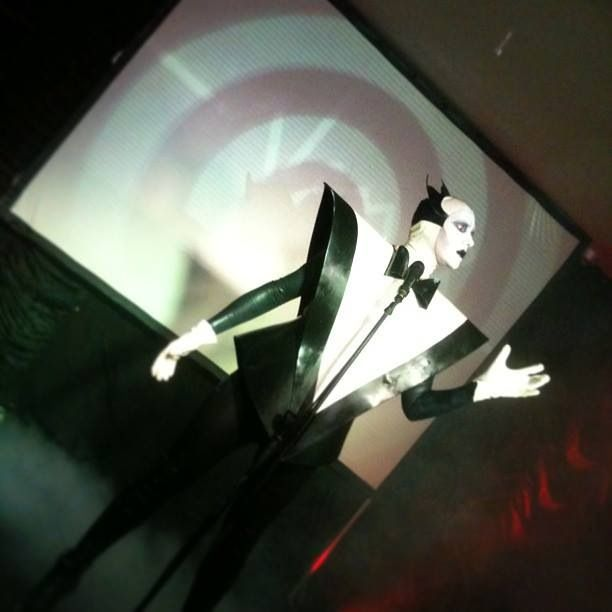 Mr Pustra as Klaus Nomi Costume by Am Statik Latex