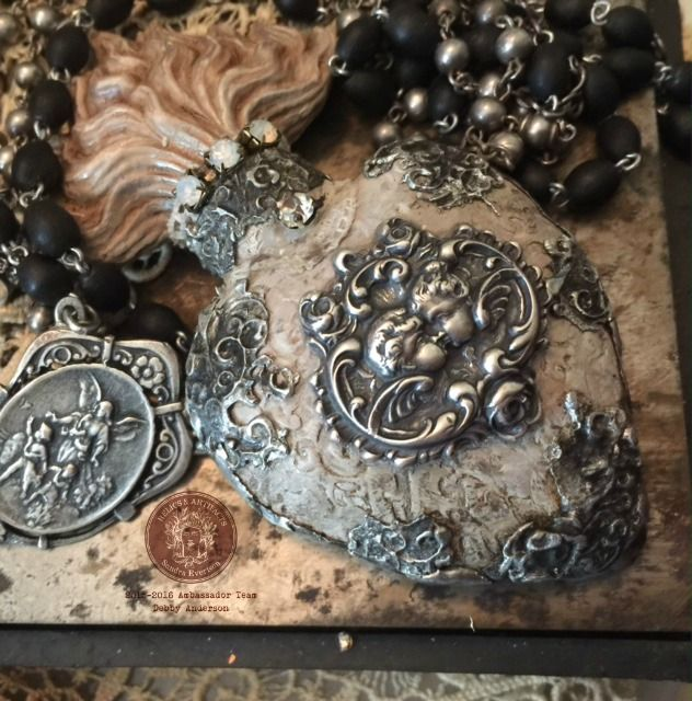 """Sacred Grace"" by Debby Anderson 2016  Brand Ambassador ~ 2015/2016 Relic's & Artifacts Sandra Evertson www.sandraevertson.com www.romancingthebling.blogspot.com"