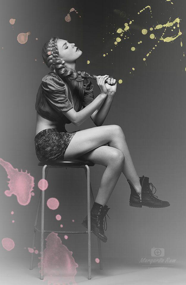 """Mood""  Photo & post: (c) Margarita Rum Model: Katia Stepura  Agency: IQmodels Style: Nicole Buyakova MUA: Evgenia Nechaeva Hair: Natalia Sushchova"