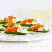 Regal Cold Smoked Salmon, Petite Cucumber, Goats' Cheese and Preserved Lemon Canapés