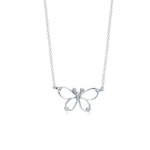 Tiffany ; Co Butterfly Charming Necklace Jewelry#tiffany #necklaces