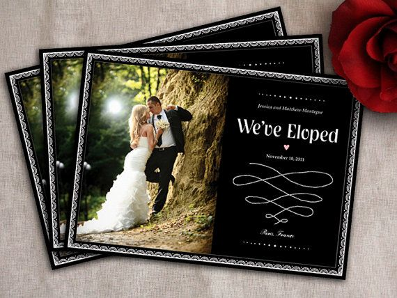 Elopement Wedding Invitations: 1000+ Images About Elopement Announcements On Pinterest