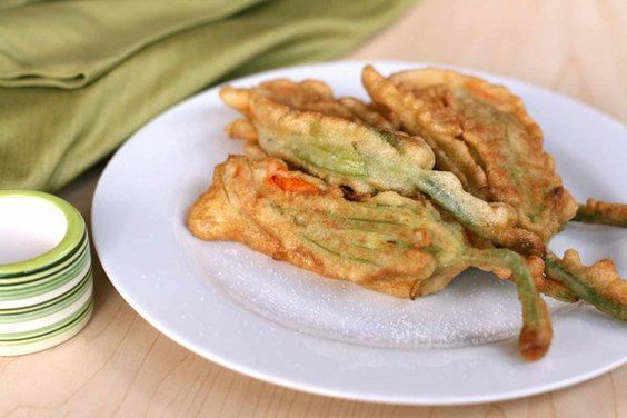 Pan-fried zucchini flowers with ricotta and fresh herbs #food52 #saveur #summerfoodfights