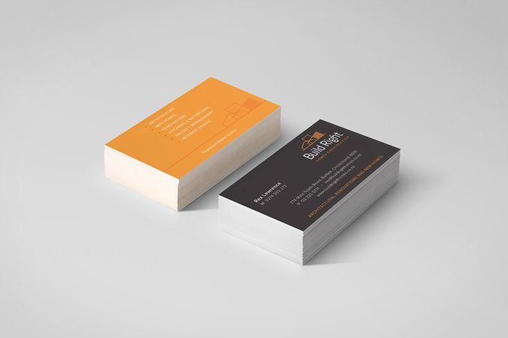 Build Right business card graphic design by Robertson Creative, Christchurch, New Zealand.