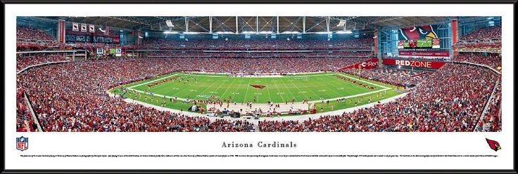 Arizona Cardinals Panoramic - University of Phoenix Stadium Picture Framed