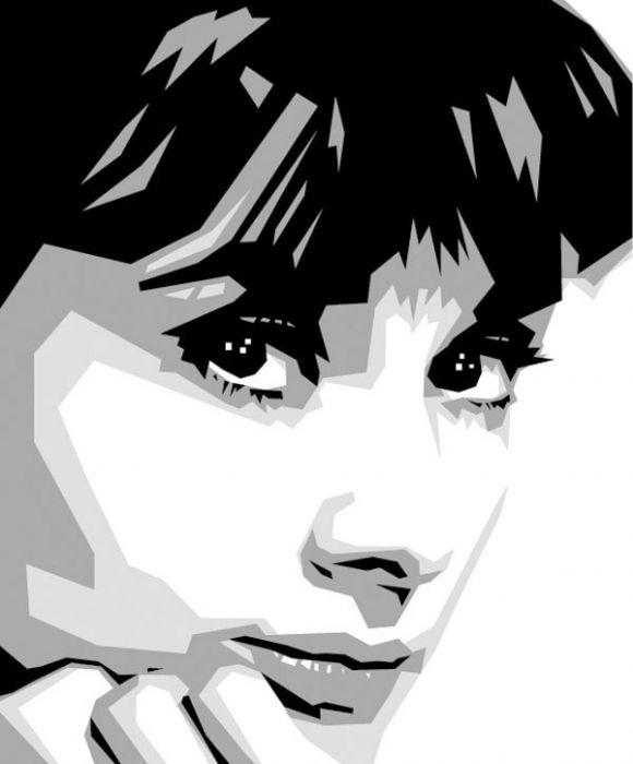 Digital portrait of Audrey