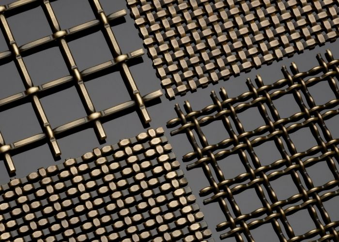 Antique Brass Decorative Plating Woven Wire Mesh