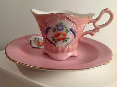 Merit Occupied Japan Tea Cup | Merit China Occupied Japan Floral Four-Footed Tea Cup And Saucer ...