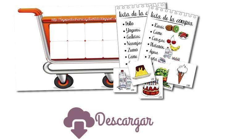 Actividad de la lista de la compra #DestrezasCognitivas, de Logopedia Dinámica y Divertida