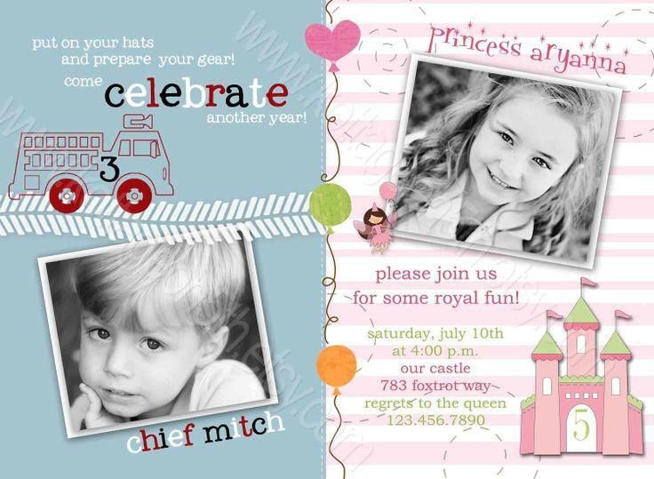 25 best bubbas christening ideas images on pinterest birthday boyandgirlcombinedbirthdayinvitations joint birthday party invitations filmwisefo