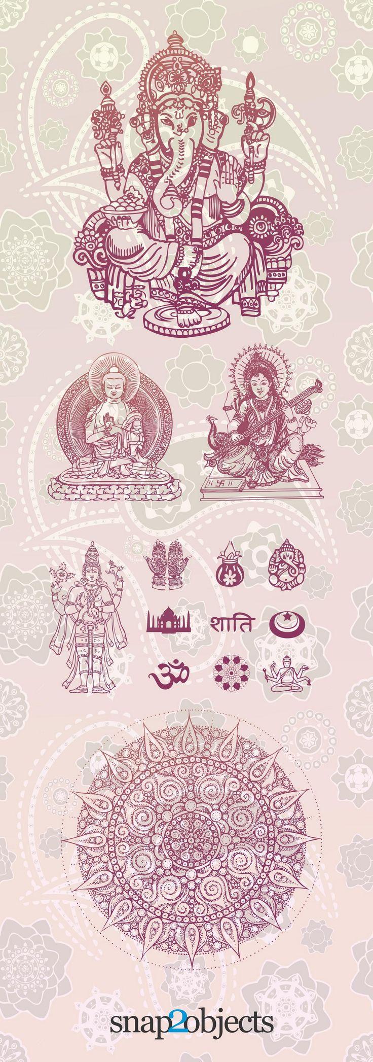Free Vector Hindu Elements AI File,  3D,  #ai, asia, aum, aumkara, buddha, deity, Delhi, elephant, ganapati  #vectorgraphics