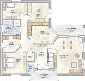 PLAN 133 - Winkelbungalow mit über 130 m² Wohnfläche und einer Nutzfläche im Dachgeschoss von ca. 145 m²