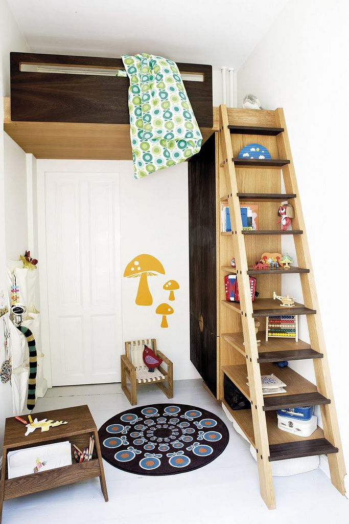 loft bed...so cute for children's bedrooms that need to pack in lots of fun in small spaces