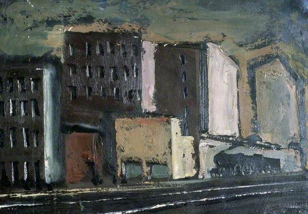 Urban Landscape by Mario #Sironi, 1924  #estorick