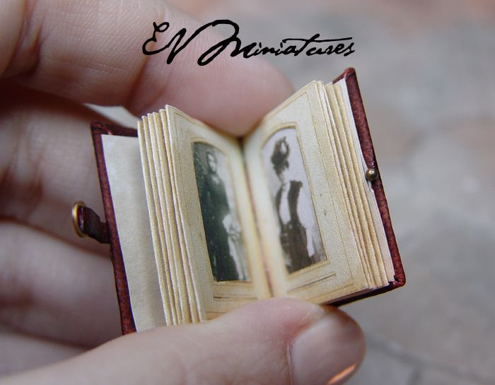 Miniature Leather Photo Album