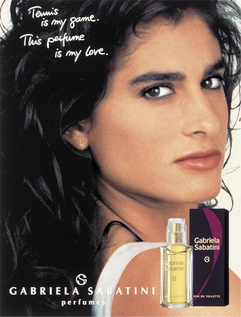 Gabriela Sabatini and her own brand of perfume