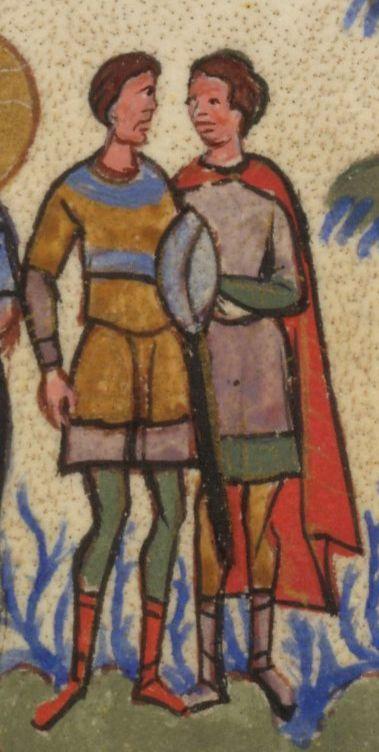 1355-1356, The Gospels of Tsar Ivan Alexander, f.131r, scabbard(?), shield(?)