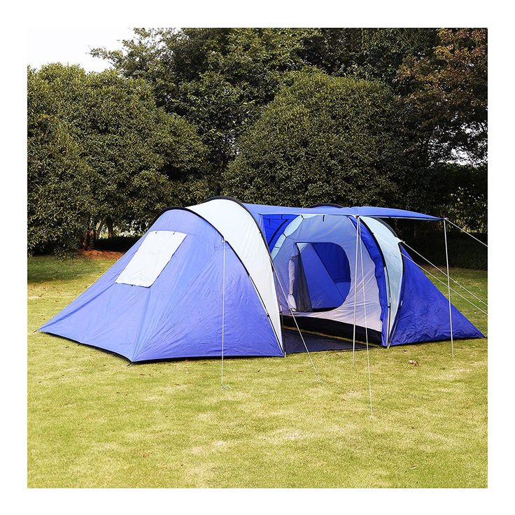 Wakrays 6-8 Person/Man Waterproof Camp 2 1 Room Hiking Camping Tunnel Family Tent -- Tried it! Love it! Click the image. : Hiking tents
