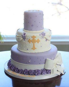 torta moderna para primera comunion de niña 2