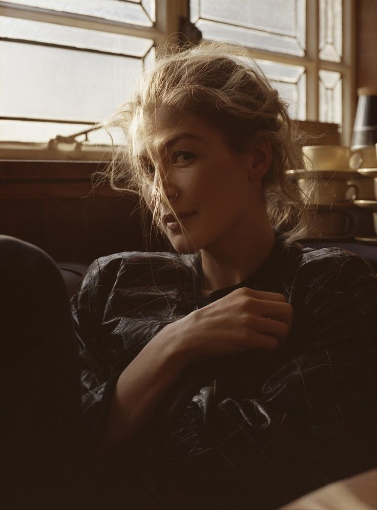 Rosamund Pike wears the Sophie Hi Rise Crop in Flaunt Magazine.