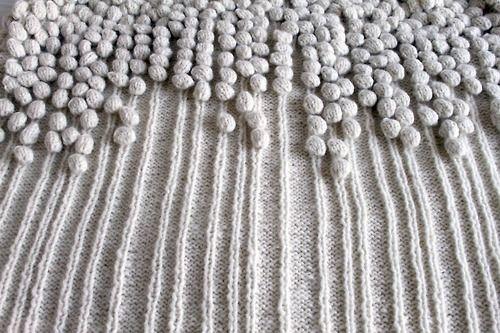 "Study ""Bubbles on a string"" by textile student Randi Samsonsen"