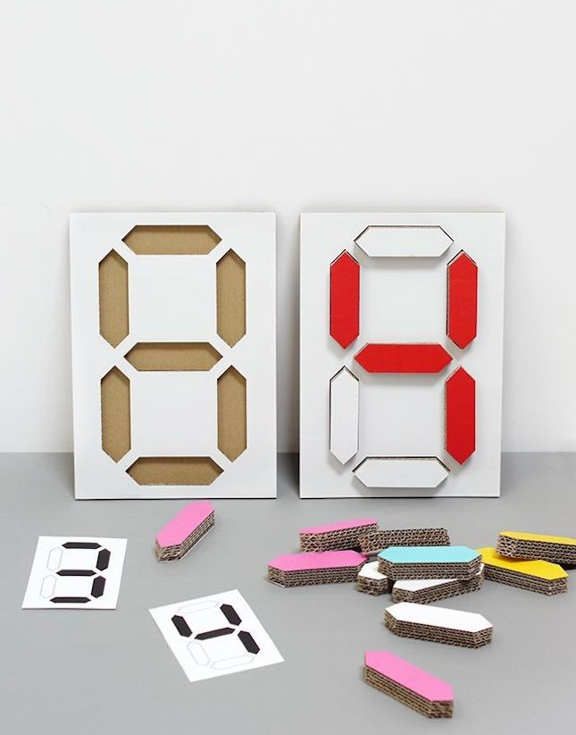 Get the digital look with this DIY calendar.