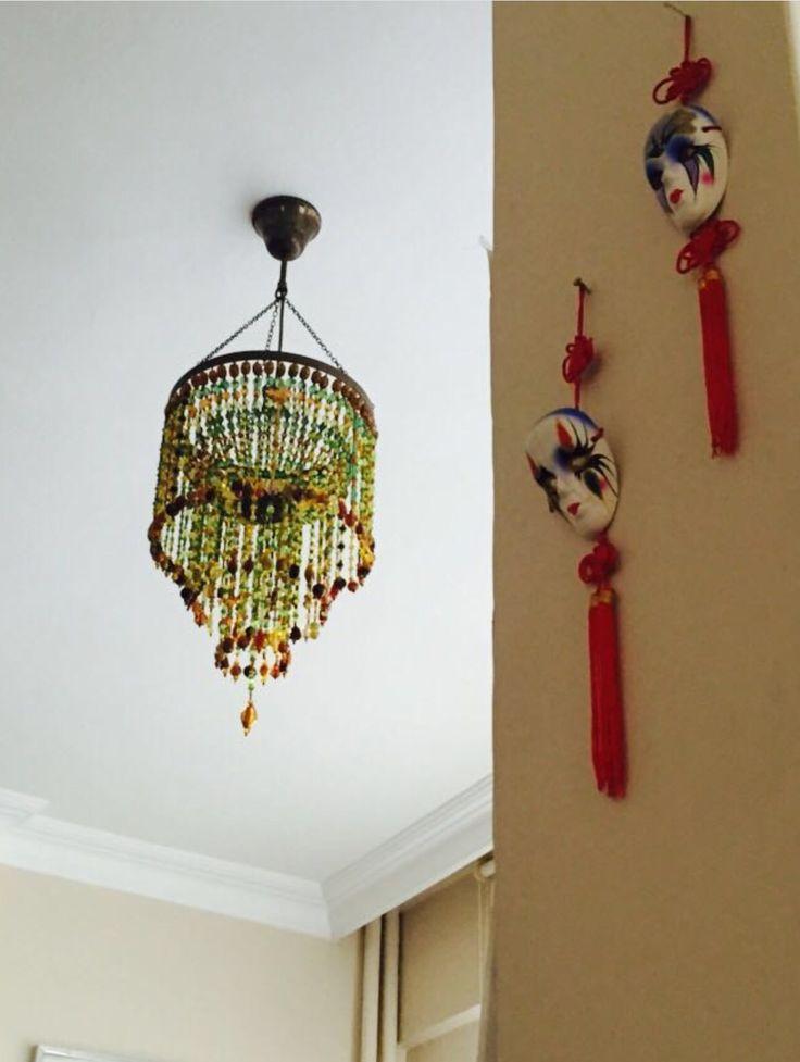 Lighting, bead chandelier