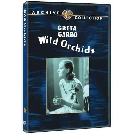"""Wild Orchids (Mod) from Warner Bros.: """"""""""""Long before the word charisma became a clich?, Garbo was its quintessence"""""""" (James Robert Parish…"""