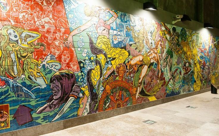 """The theme Oriente station is """"The Oceans"""""""