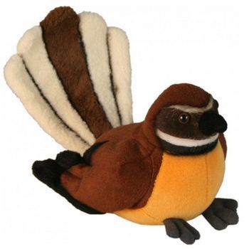 New Zealand Fantail Bird Soft Toy with Sound