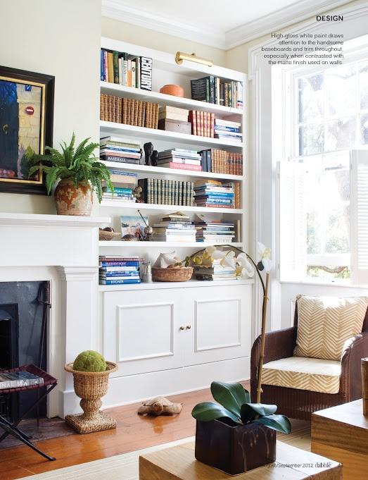 Shelf next to fireplace - Issue 9: Aug/Sep '12 | Dabble Magazine