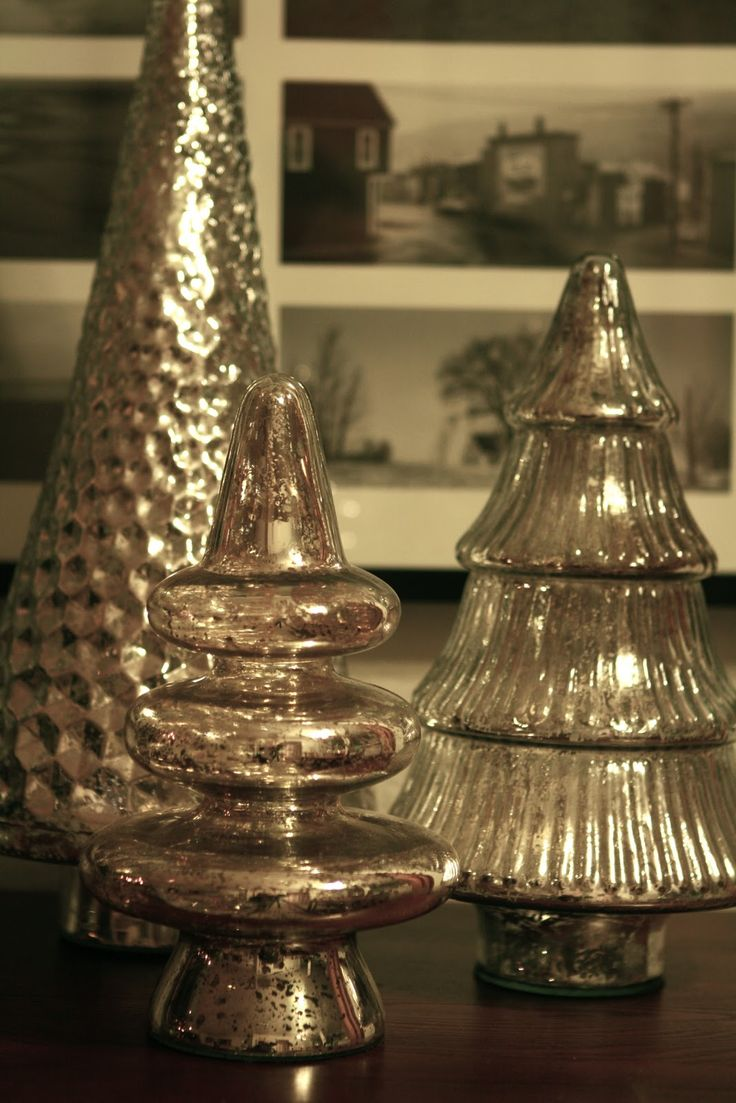 Best images about christmas mercury glass on pinterest