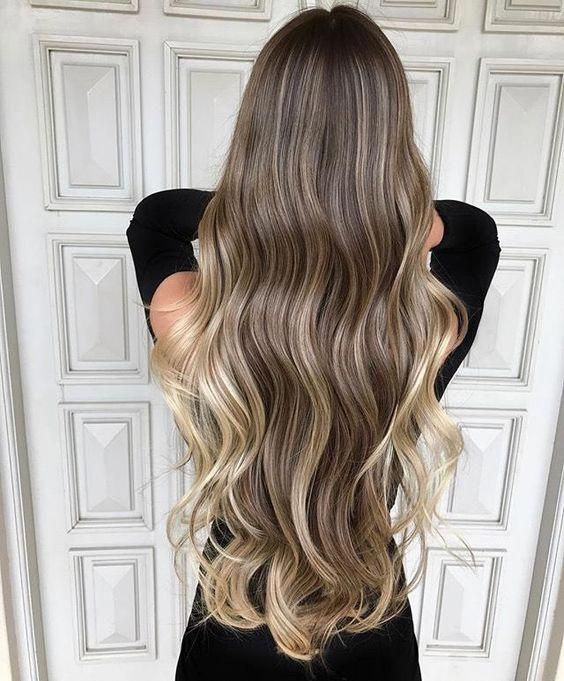 Looking for the top spring hair colors? long hair color ideas; long hair waves; hair color trends 2019. #shorthairbalayage