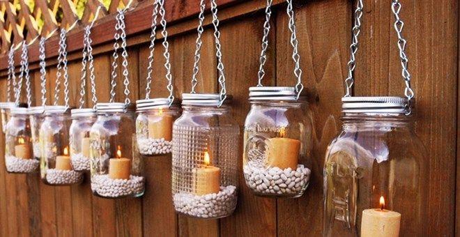DIY Mason Jar Lantern Light Hangers | Set of 2